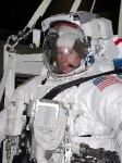 photo of astronaut Mike Gernhardt in a space helmet